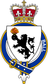 British Garter Coat of Arms for Ball (England)
