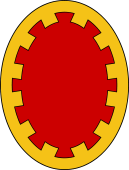 Oval Shield-Bordure Embattled