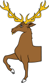 Stag Trippant or Passant Demi