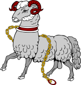 Ram Passant Collared and Chained