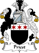 English Coat of Arms for Priest or Prest