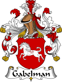 German Wappen Coat of Arms for Gabelman