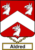 English Coat of Arms Shield Badge for Aldred