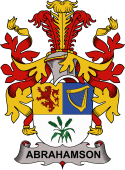 Danish Coat of Arms for Abrahamson