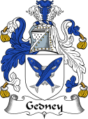 English Coat of Arms for Gedney or Gidney
