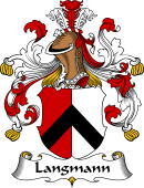 German Wappen Coat of Arms for Langmann