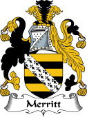 English Coat of Arms for Merit or Merritt
