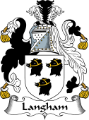 English Coat of Arms for Langham