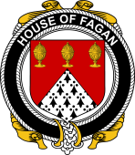Irish Coat of Arms Badge for the FAGAN family