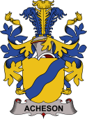 Danish Coat of Arms for Acheson