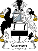English Coat of Arms for Gambon or Gamon