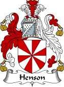 English Coat of Arms for Henson