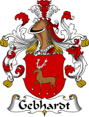 German Wappen Coat of Arms for Gebhardt