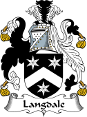 English Coat of Arms for Langdale