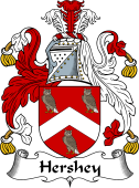 English Coat of Arms for Hersey or Hershey