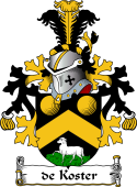 Dutch Coat of Arms for de Koster