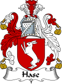 English Coat of Arms for Hase