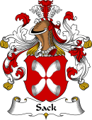German Wappen Coat of Arms for Sack
