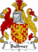 English Coat of Arms for Bullmer or Bulmer