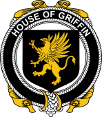 Irish Coat of Arms Badge for the GRIFFIN family