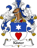 German Wappen Coat of Arms for Köster