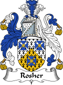 English Coat of Arms for Rosher