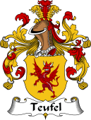 German Wappen Coat of Arms for Teufel