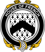 Irish Coat of Arms Badge for the FRENCH family