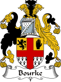 Irish Coat of Arms for Bourke