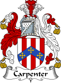English Coat of Arms for Carpenter