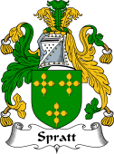 English Coat of Arms for Spratt