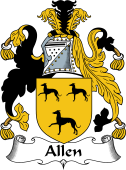 English Coat of Arms for Allen
