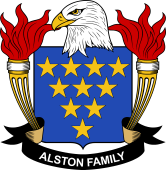 American Coat of Arms for Alston