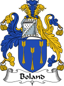 English Coat of Arms for Boland