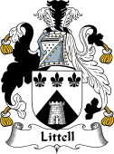 English Coat of Arms for Littell or Little