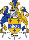 English Coat of Arms for Taap or Tapp