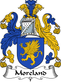 English Coat of Arms for Moreland or Mereland