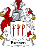 English Coat of Arms for Burden