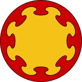Circular Shield-Bordure Nebulee
