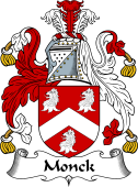 English Coat of Arms for Monck or Monk
