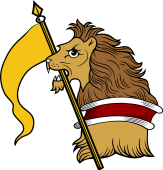 Lion HEC-Pennon and Pole