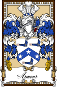 Scottish Coat of Arms Bookplate for Armour