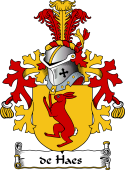 Dutch Coat of Arms for de Haes