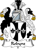 English Coat of Arms for Robyns or Robbins