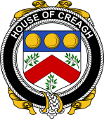 Irish Coat of Arms Badge for the CREAGH family