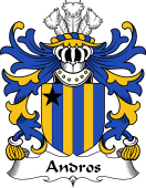 Welsh Coat of Arms for Andros (or Andrews)