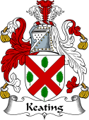 Irish Coat of Arms for Keating or O'Keaty