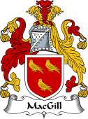 Irish Coat of Arms for MacGill (Ballynester)