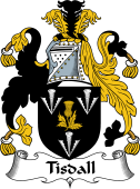 Irish Coat of Arms for Tisdall