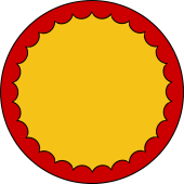 Circular Shield-Bordure Inveckted